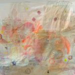 Der Krug geht solange zu Wasser bis er bricht, Ölfarbe und Kozo-Papier auf Seide, Baumwollpulpe (auf Tonkrug) (2016)