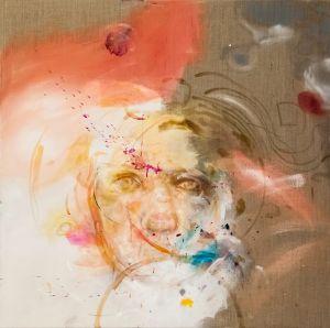 o.T., Öl, Schellack und Pigment auf Leinwand, 115,5 x 125,5 cm (2017)