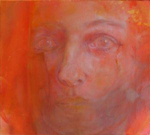 I Can Almost See You (Alma), Öl auf Leinwand, 36 x 40,2 (2018)