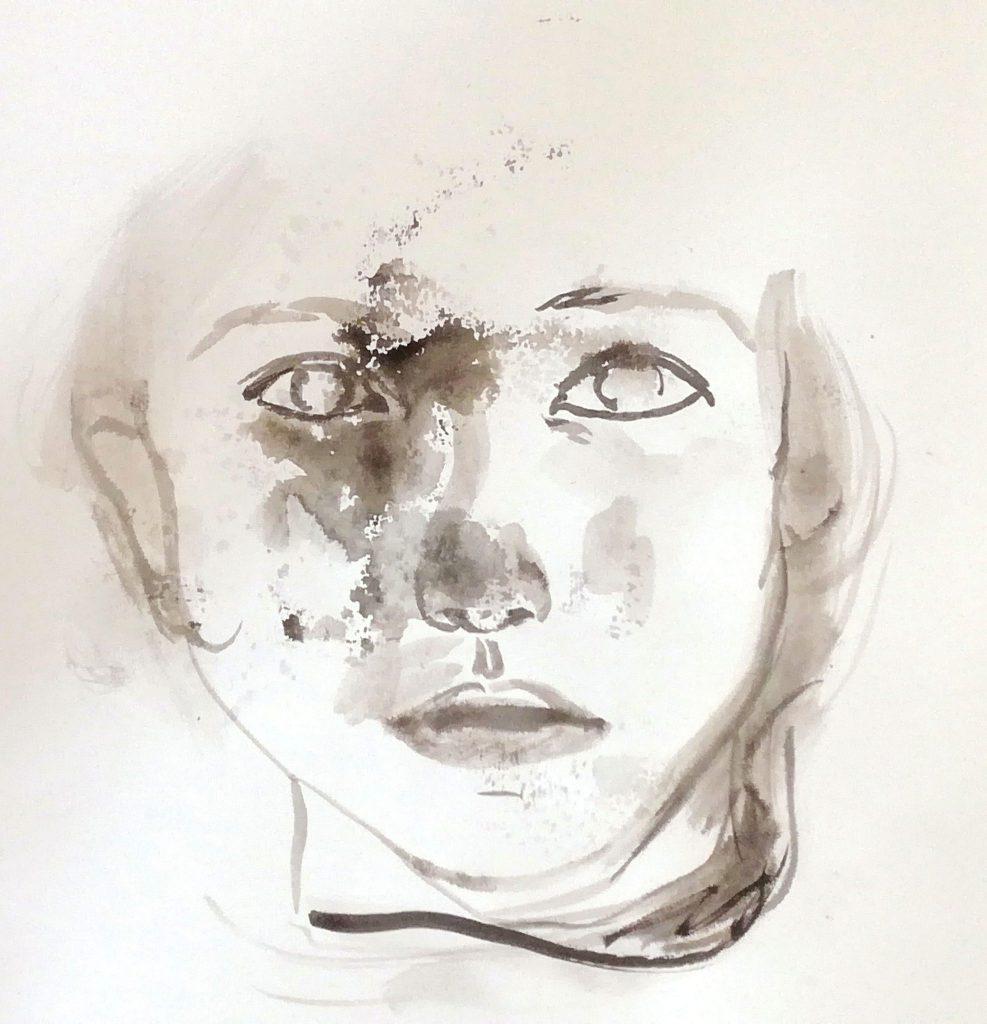accomplish – 2017 | Tusche auf Papier | 30 x 30 cm