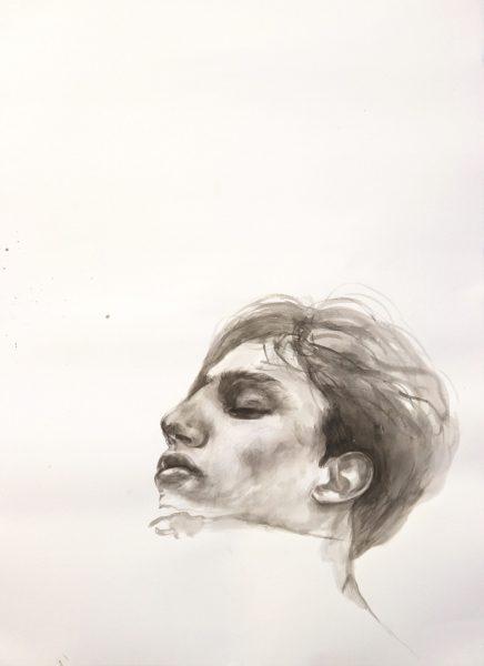 Momentum 1 – 2018 | Tusche auf Papier | 70 x 50 cm