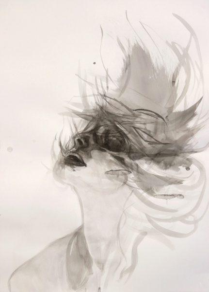 Momentum 2 – 2018 | Tusche auf Papier | 70 x 50 cm
