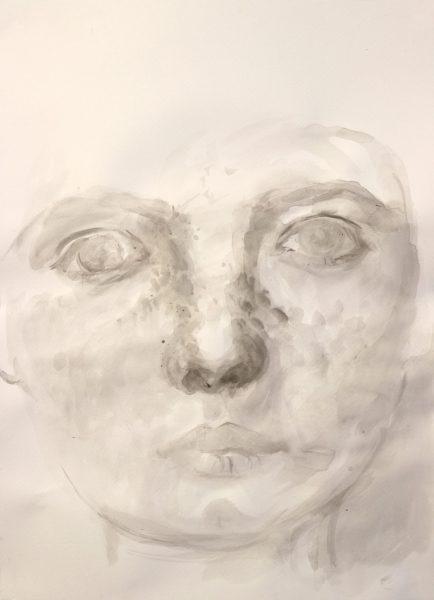 Warum trotzdem 2 – 2018 | Tusche auf Papier | 70 x 50 cm