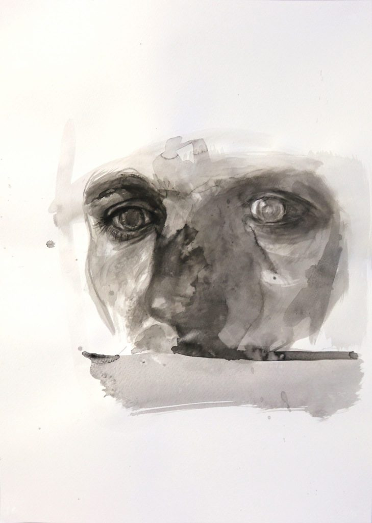 Warum trotzdem 3 – 2018 | Tusche auf Papier | 70 x 50 cm